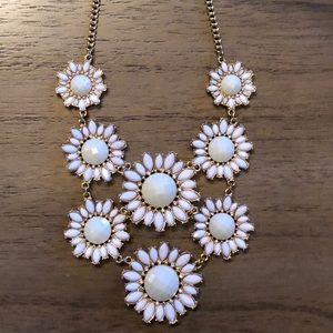 Periwinkle/Lavender/Gold Daises Necklace